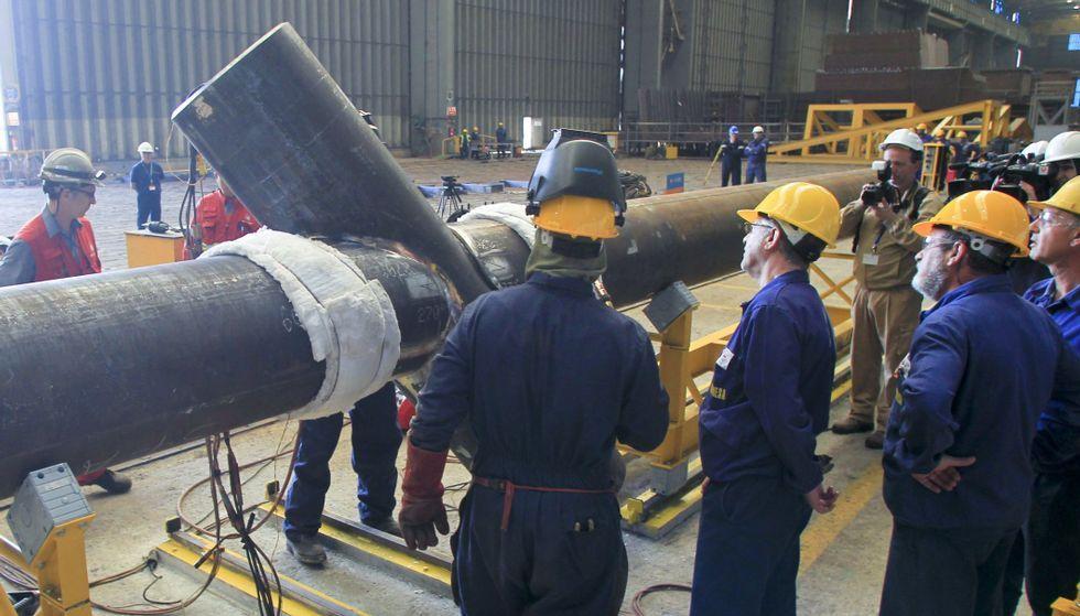 Navantia Fene se estrenó el pasado mes de julio en la construcción de componentes para el sector de la eólica marina.