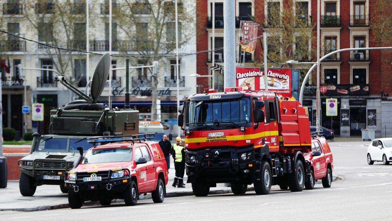 Los militares comenzarán a hacer «reconocimientos previos» en siete ciudades.Las estación de autobuses de Gijón, vacía