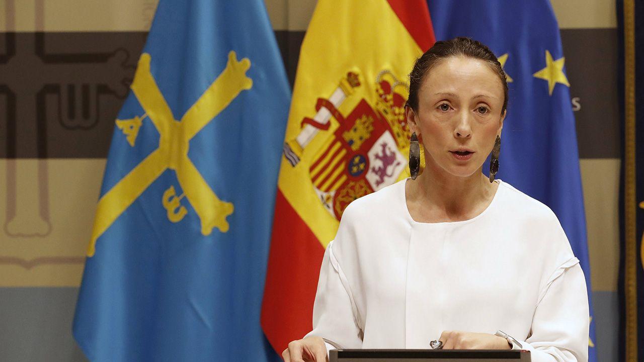 Melania  Alvarez, portavoz del Gobierno del Principado y consejera de Derechos Sociales y Bienestar.