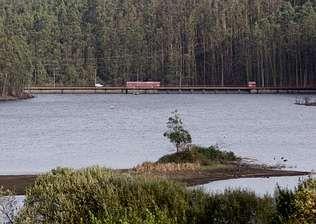 Foto de archivo del pantano de As Forcadas, situado en Valdoviño.