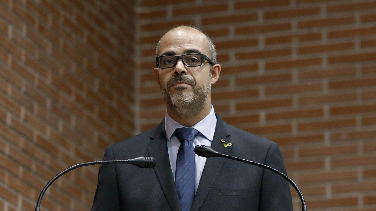 Puigdemont llega a los juzgados que estudiarán hoy la reactivación de la euroorden.El expresidente del Parlamento vasco, Juan María Atutxa