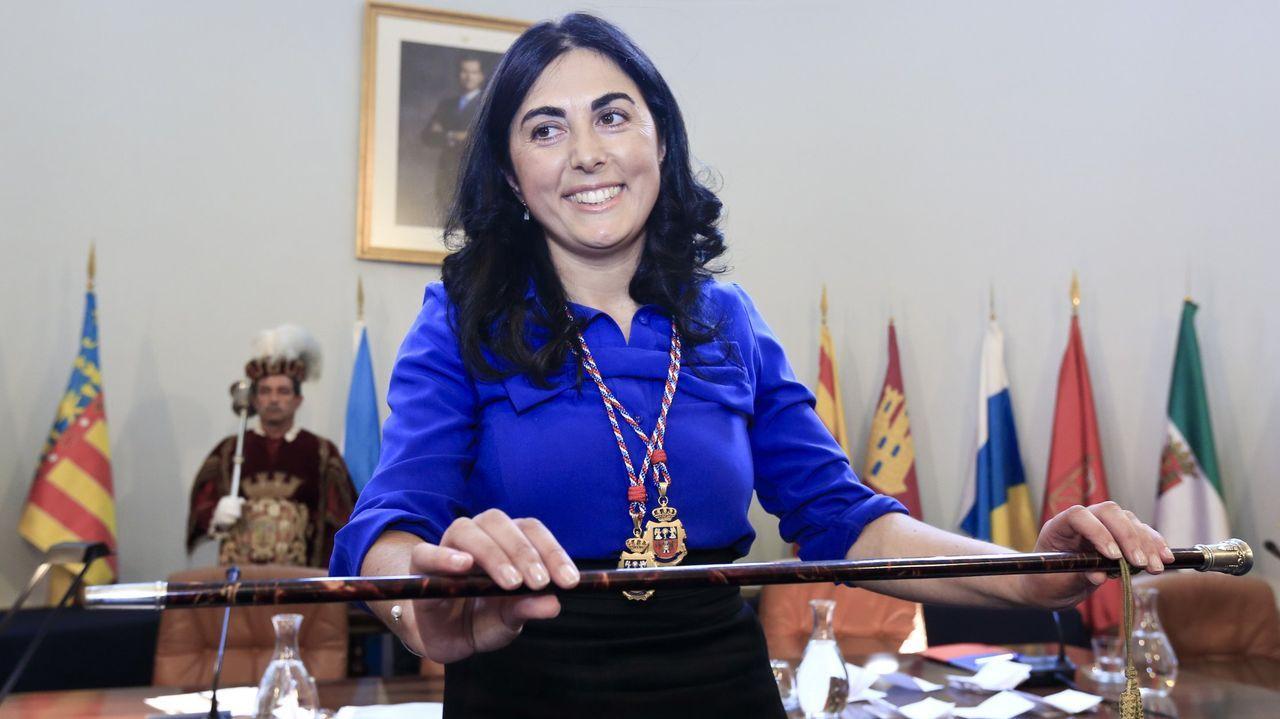 Elena Candia, uno de los regidores que volverá a recibir el bastón de mando hoy, en Mondoñedo. a. lópez