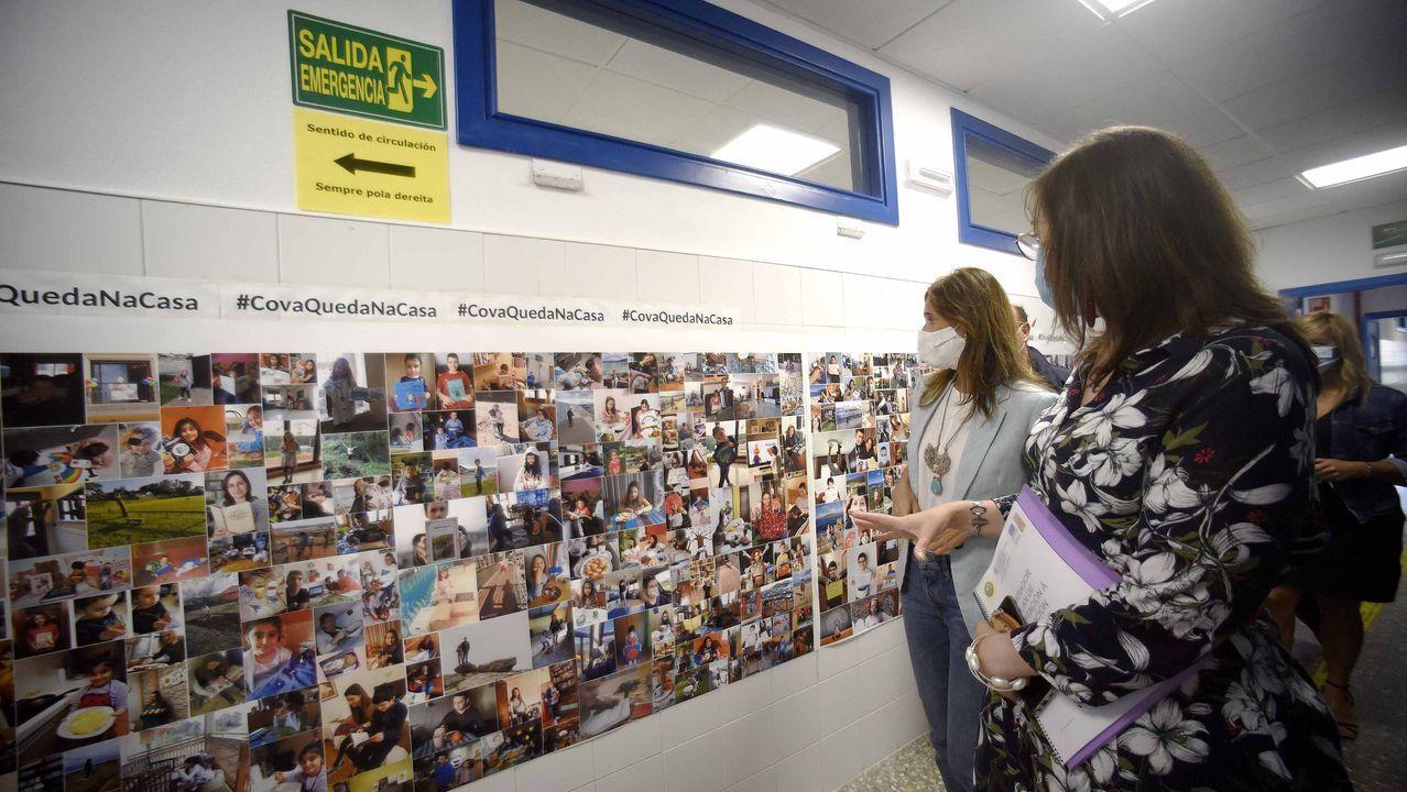Supervisión en los colegios antes del inicio de curso.A la derecha, en una foto de archivo, la sede del Tribunal Superior de Xustiza de Galicia, donde se dictó la sentencia ahora recurrida