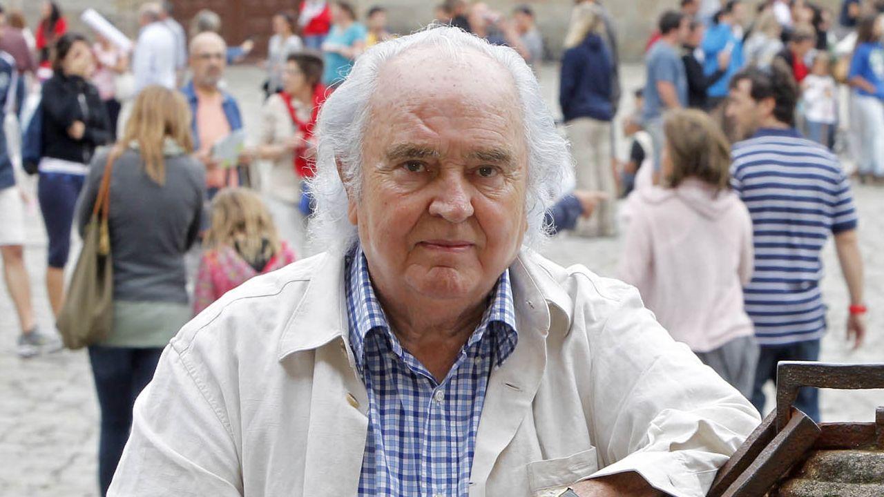 cine.El compositor Antón García Abril, en Santiago en una imagen del año 2013