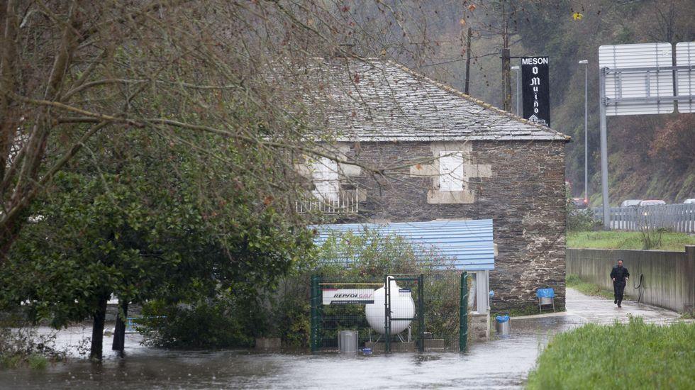 Otra imagen de las inundaciones en Lugo.
