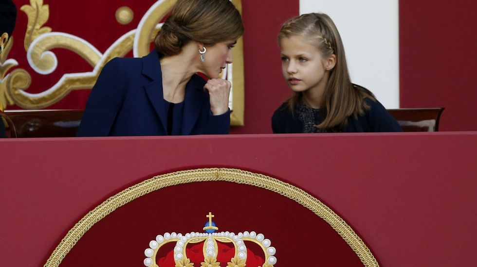 Presentación oficial de la princesa Leonor días después de su nacimiento.