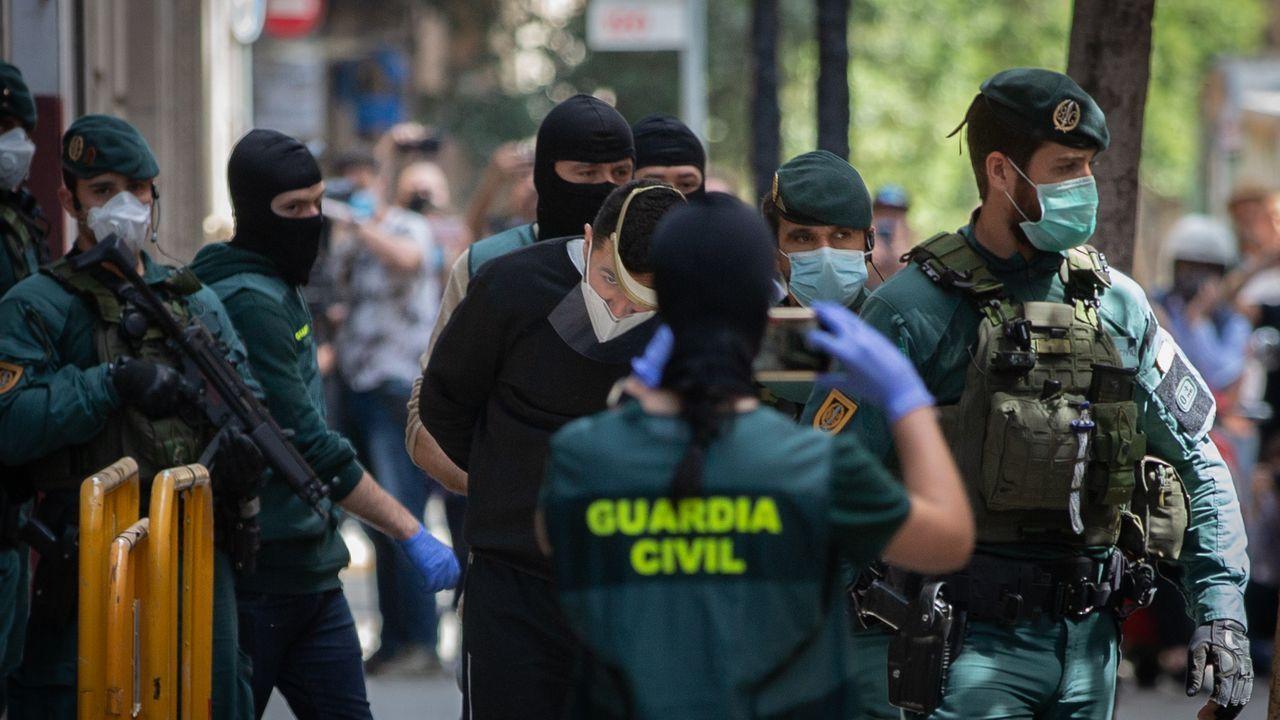 Agentes de la Guardia Civil detuvieron a un presunto yihadista en la Ciutat Vella de Barcelona el pasado mes de mayo
