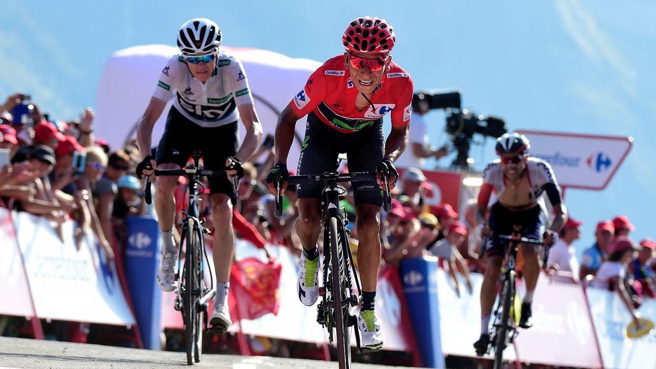 «Ganar el Tour de Francia fue como agarrar un sueño con mi mano».El ciclista gijonense Iván García Cortina, durante la novena etapa de la Vuelta Ciclista a España
