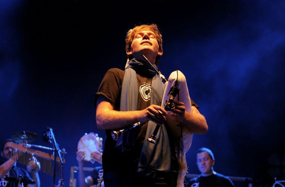 Budiño, durante la actuación ofrecida en el Festival de Ortigueira del año 2009.