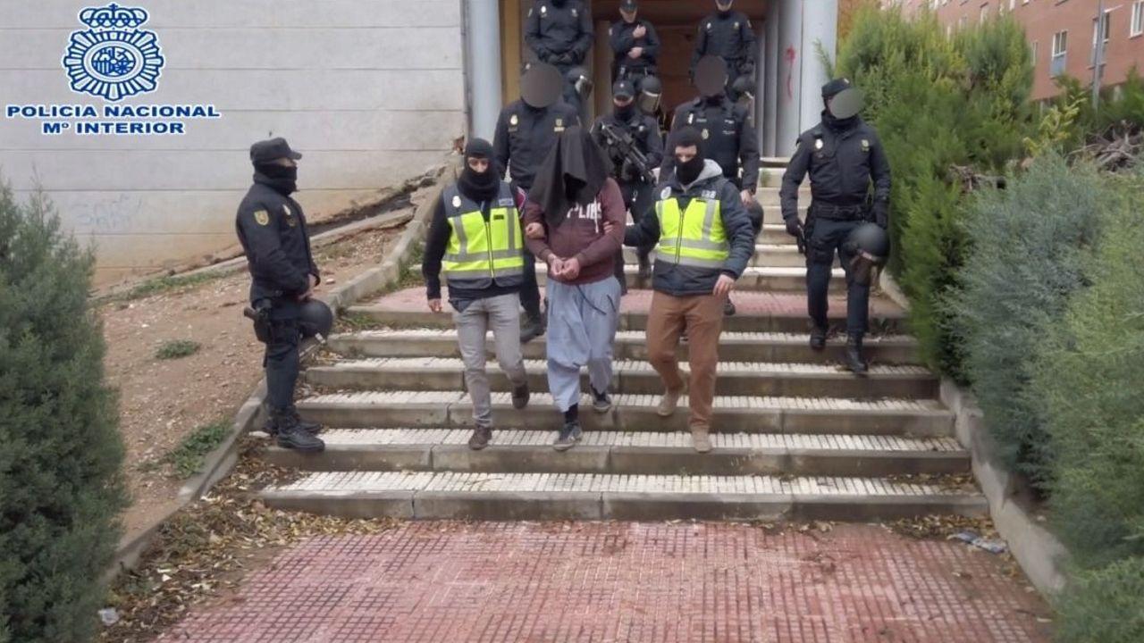 Imagen de la operación realizada en diciembre del año pasado en España y Marruecos contra una red de apoyo al EI
