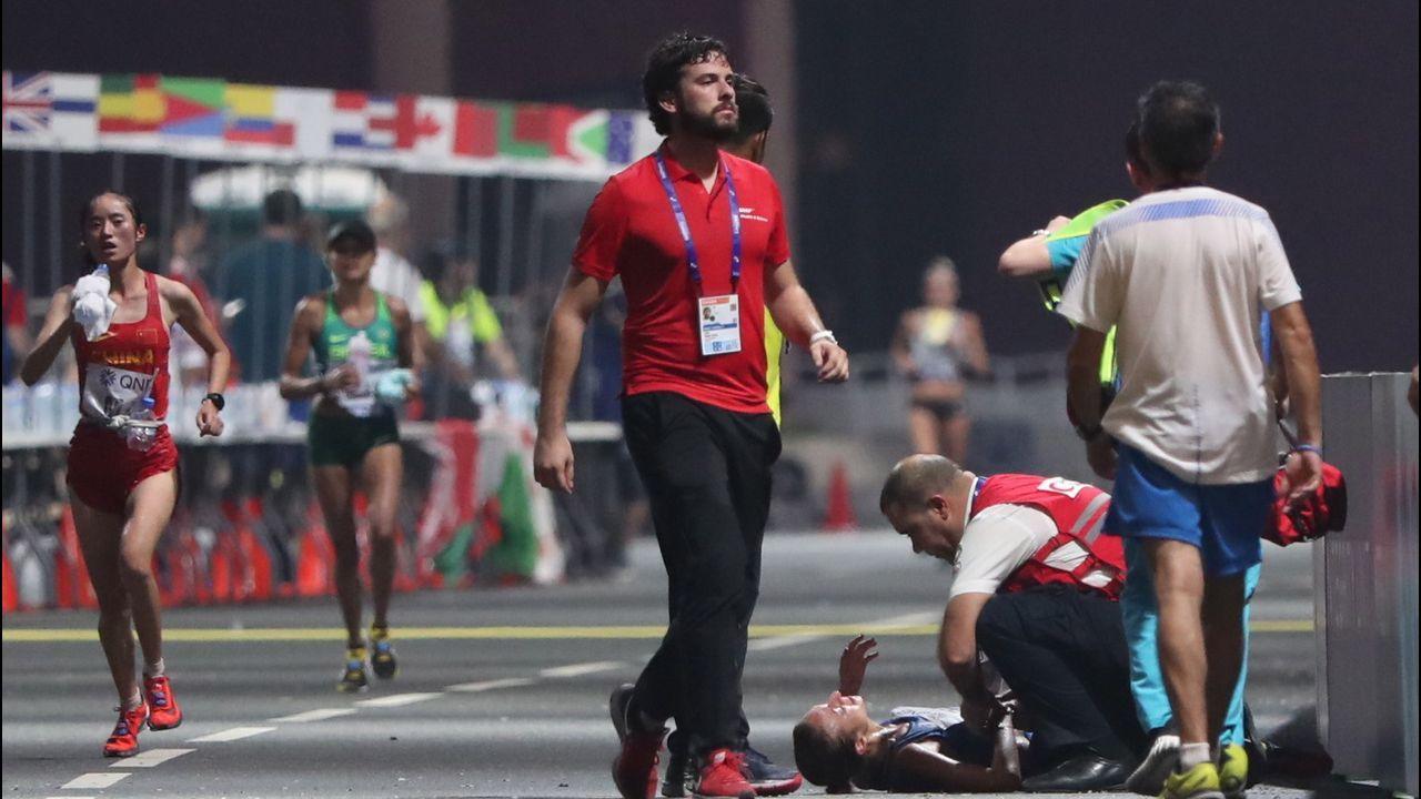 Las terribles imágenes del maratón del esfuerzo en Doha