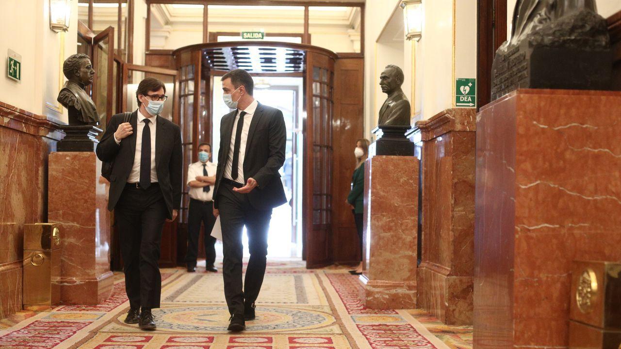 La vigencia del mensaje de Riego.Sánchez llega con el ministro Illa al pleno de sesión de control al Gobierno del miércoles