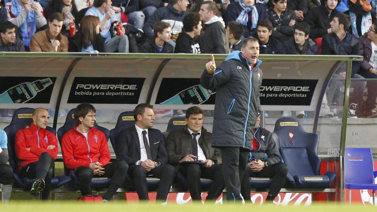 El nuevo técnico del Pontevedra CF, Ángel Rodríguez, durante su etapa como segundo entrenador en el Celta