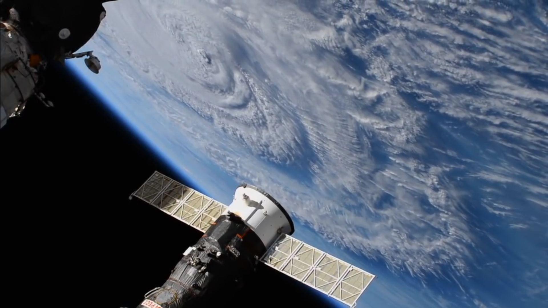 Así se ve el huracán Florence desde el espacio
