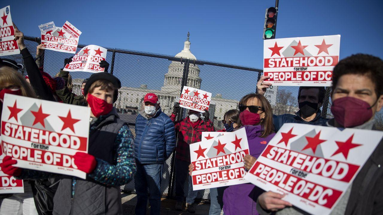 Manifestación de apoyo a que Washington DC se convierta en el estado 51.º de la Unión