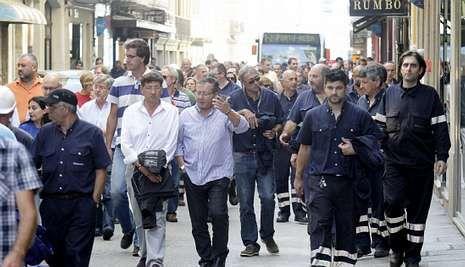 En la foto, la movilización de los trabajadores de Navantia el pasado 26 de septiembre.