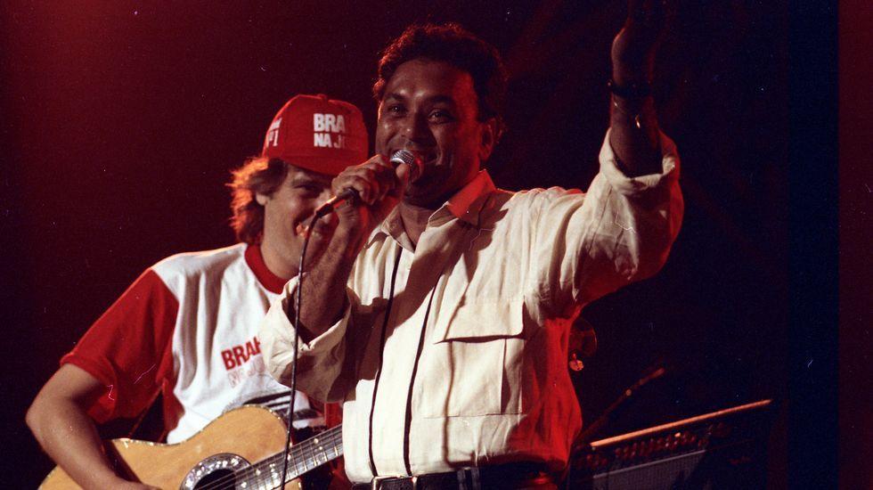 Fiesta en la sala Scala de Río de Janeiro.