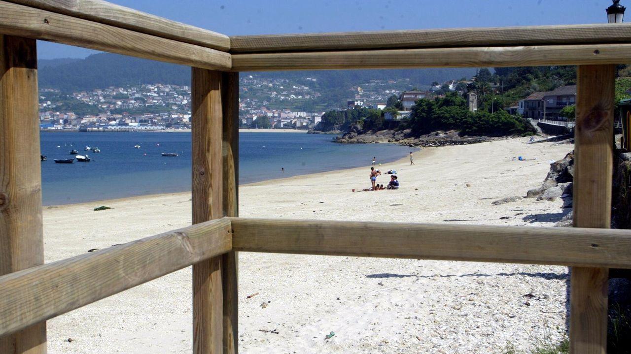 Playa de Beluso, en Bueu