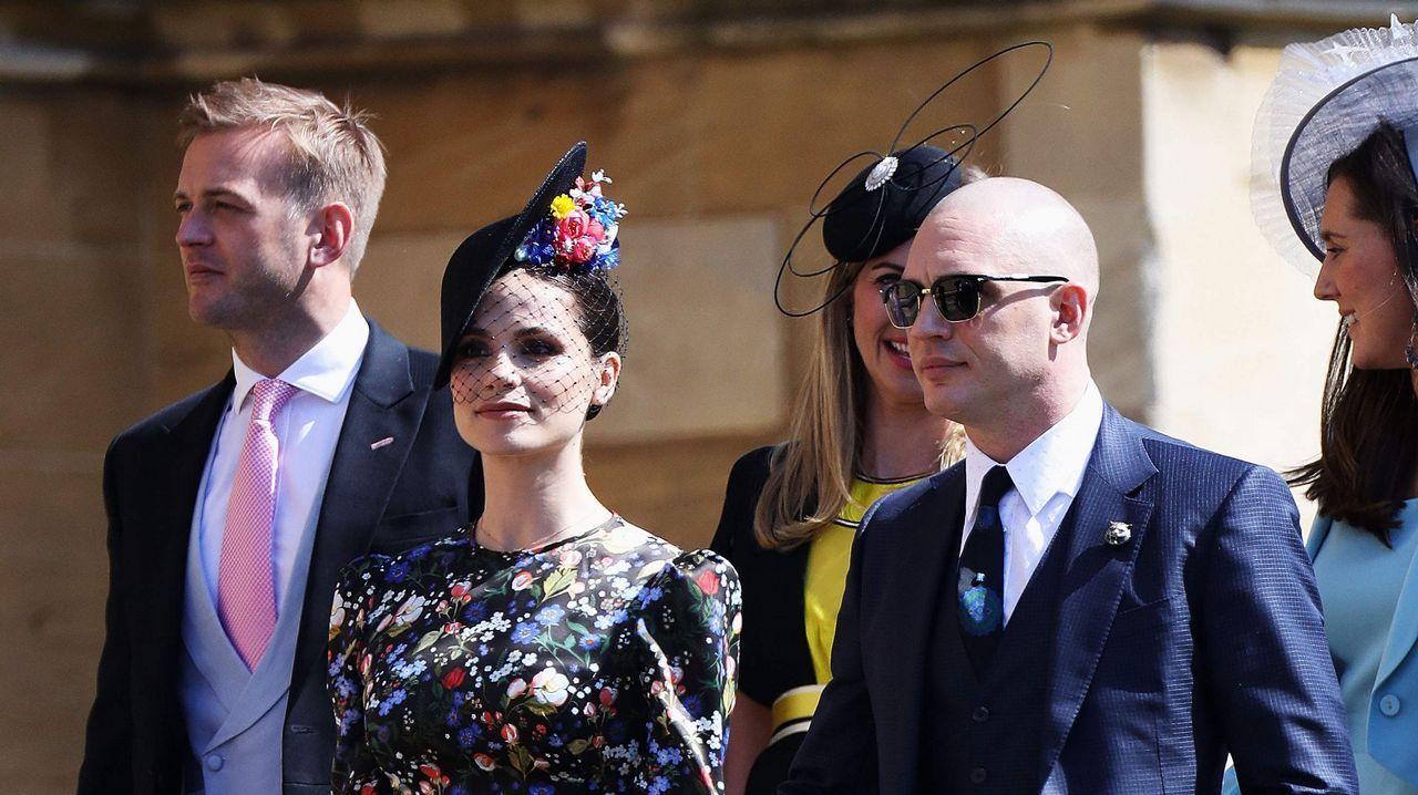 El actor Tom Hardy y su mujer Charlotte Riley
