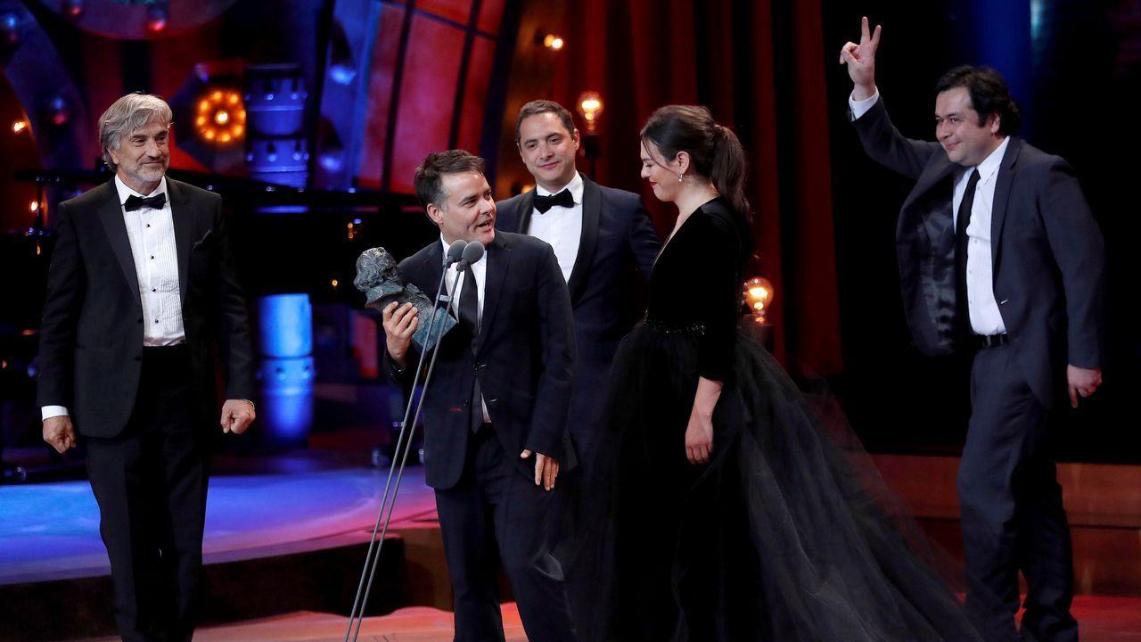 El realizador y guionista chileno Sebastián Lelio tras recibir el premio a la Mejor película iberoamericana por la cinta «Una mujer fantástica»