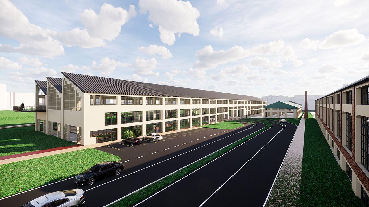 Simulación del nuevo proyecto para modificar la entrada a Oviedo por la Y.Belarmino Feito, presidente de FADE