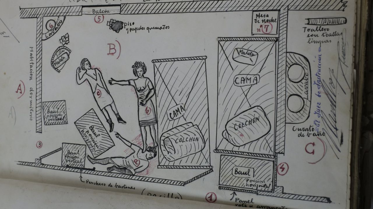 Reconstrucción de la escena del crimen en el expediente judicial