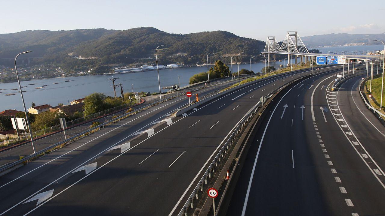 AP-9 a su paso por Vigo.