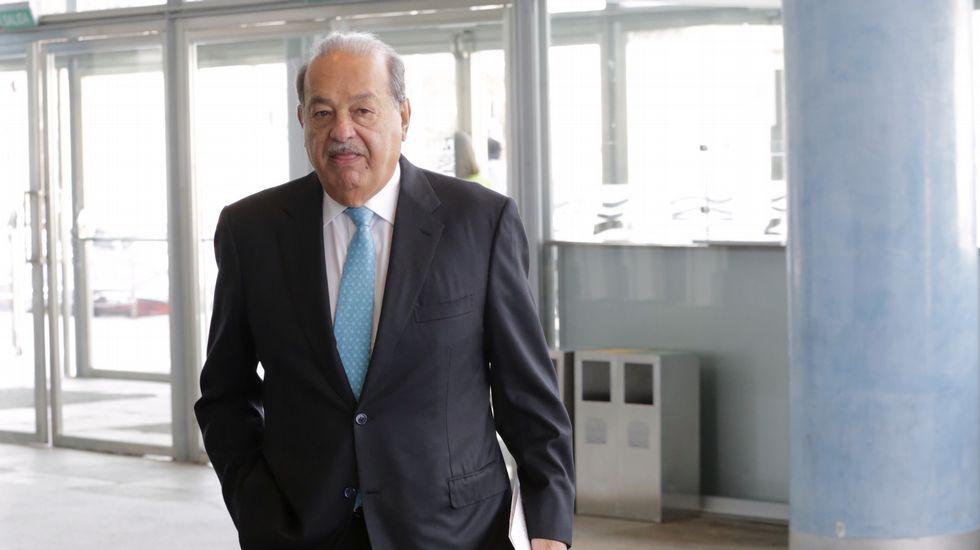 Carlos Slim, de visita en Galicia