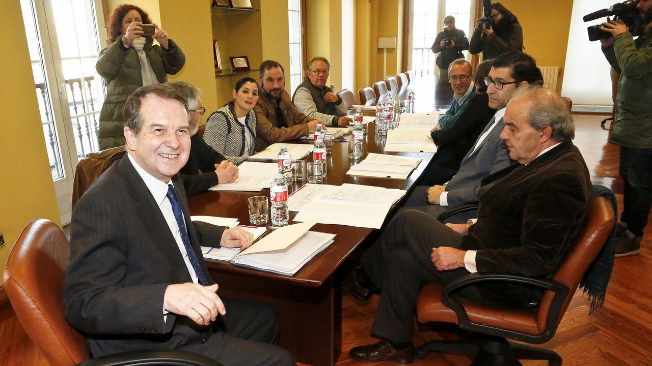 Gómez-Limón pide el voto para el BNG.Junta de Gobierno del área metropolitana de Vigo celebrada en enero del 2017