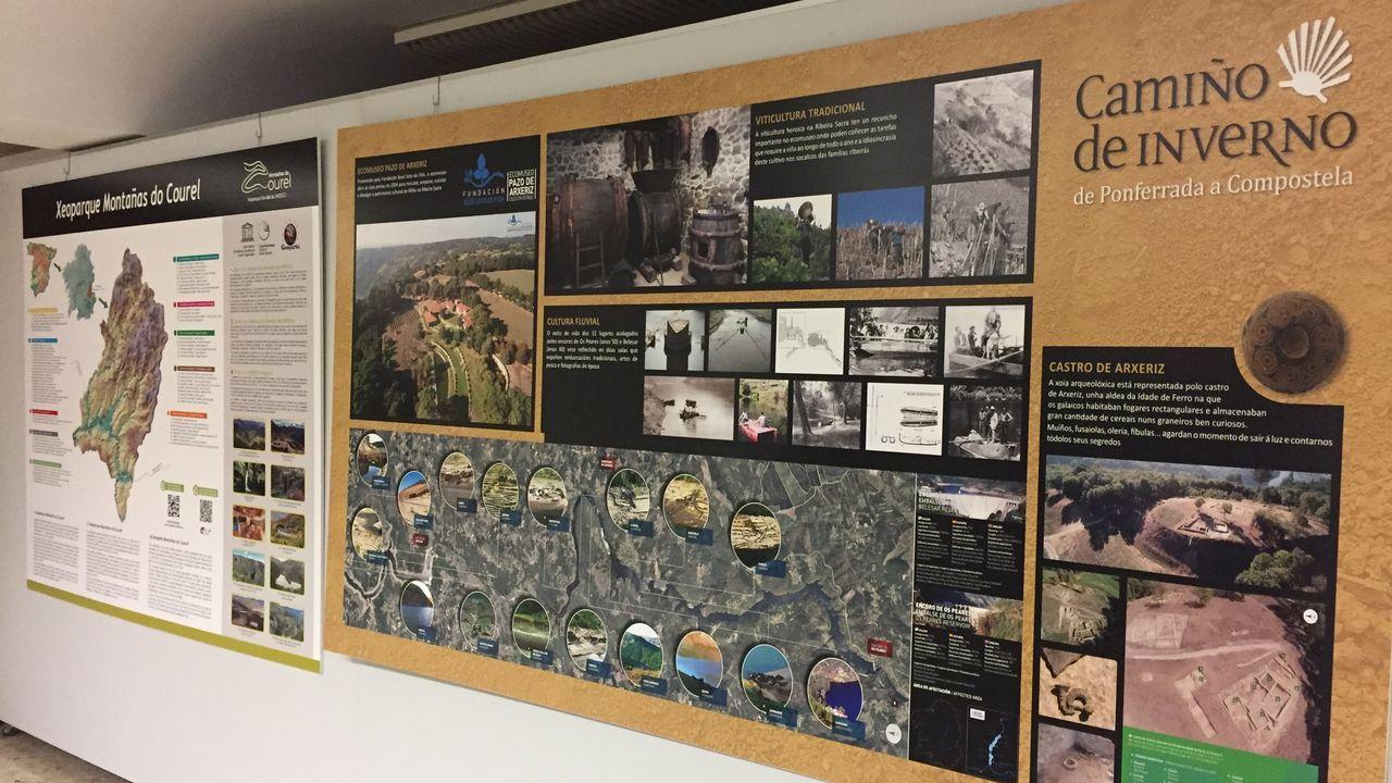 Fotografías premiadas no primeiro concurso Xeoparque Montañas do Courel.Los paneles de la exposición, organizada por la asociación Alumni USC, ya están instalados en la Casa de Cultura