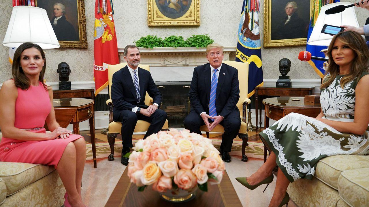 Las imágenes de la visita de los reyes de España a la Casa Blanca. Integrantes del barco Aquarius