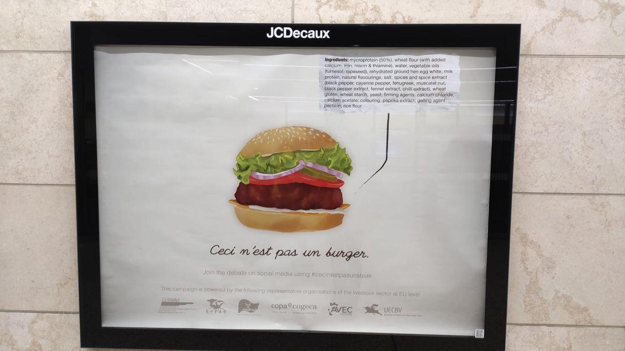 Imagen de la campaña que inundó el metro de Bruselas
