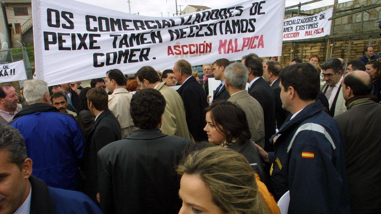 Protestas de los trabajadores del cerco de Malpica