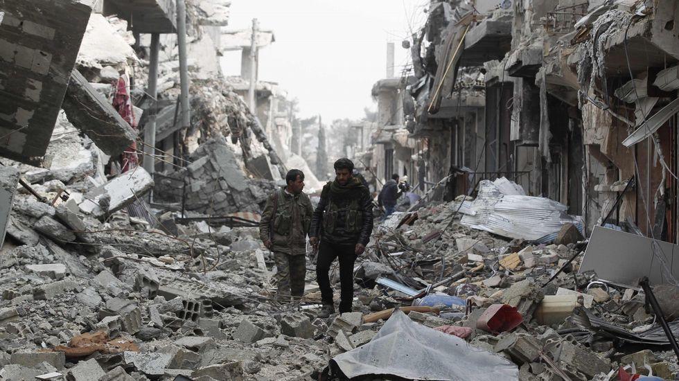 La magnitud de la destrucción en Kobani durante cuatro meses y medio de combates entre kurdos y el Estado Islámico es comparada al asedio de Stalingrado.