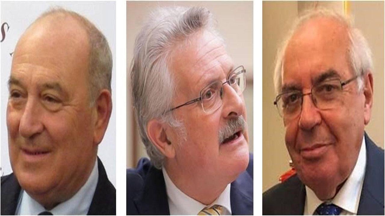 La política y la sociedad asturiana se vuelcan en el adiós a Álvarez Areces.Juan Luis Rodríguez-Vigil Rubio, Antonio Trevín Lombán y Vicente Álvarez Areces