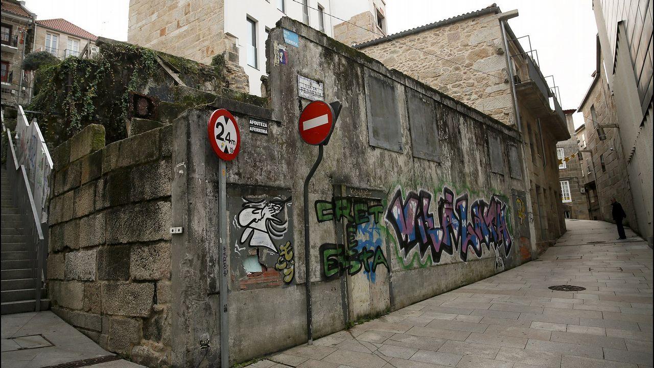Barrio de A Ferrería en Vigo, donde fue hallada muerta una mujer de 44 años