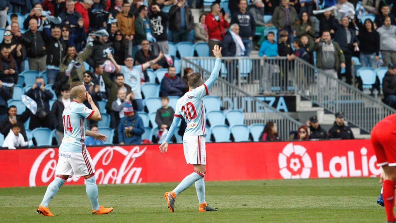 Celta-Sevilla (4-0) el 7 de abril del 2018. Triplete de Aspas