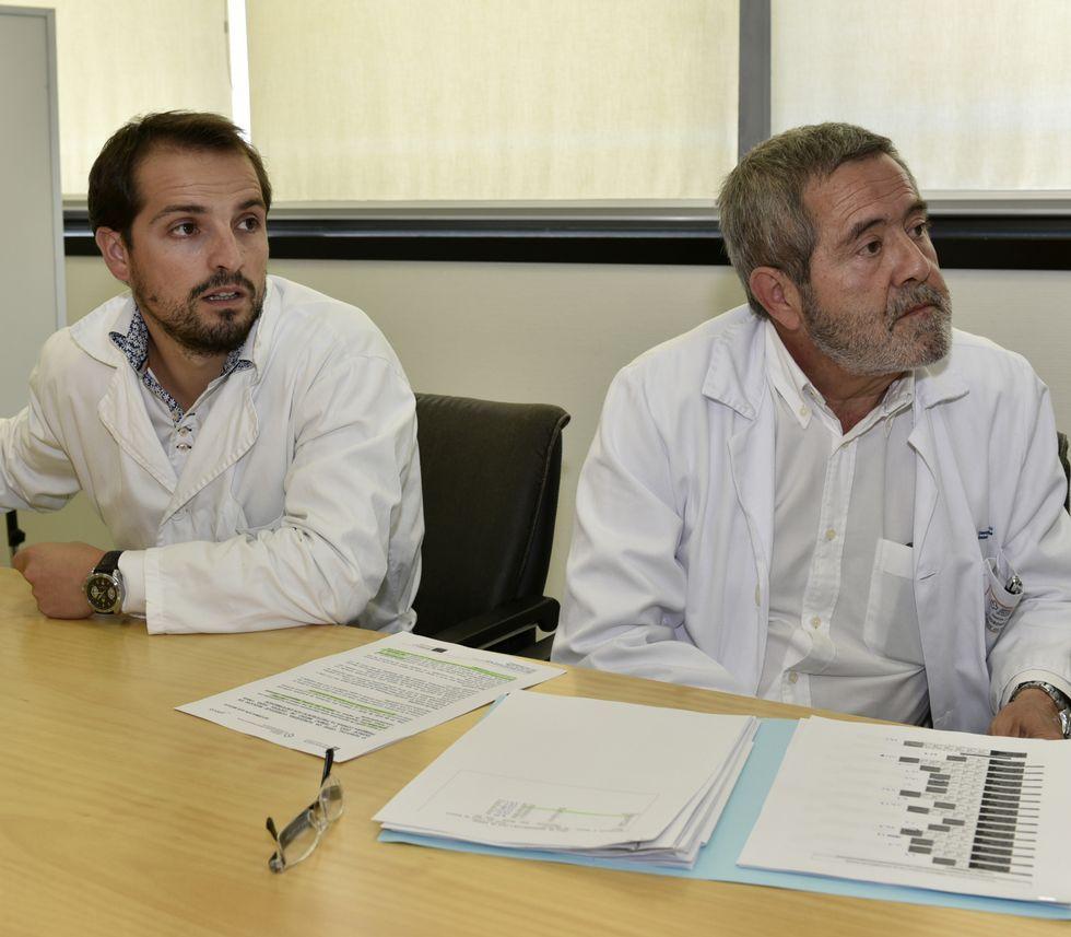 Vilaseco y Díaz durante la presentación de ayer en Cee.