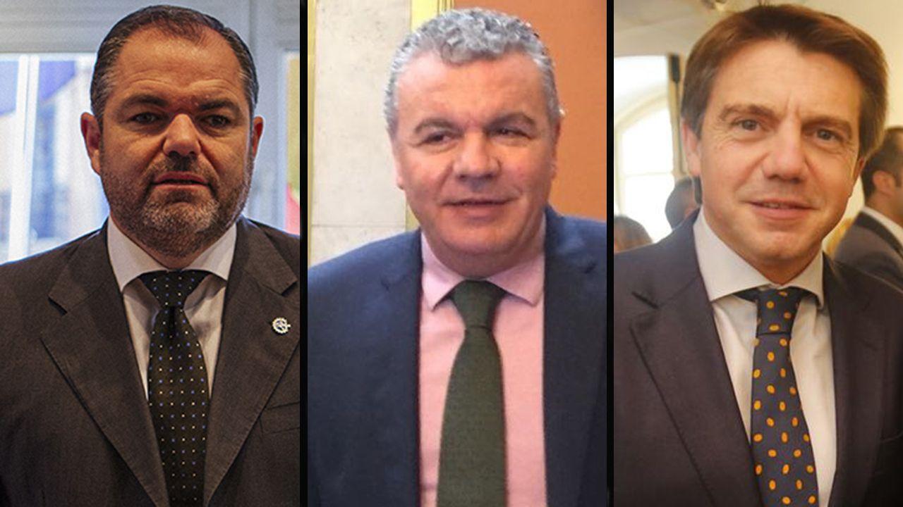 El presidente de Otea, José Luis Álvarez Almeida.Carlos Paniceres, Belarmino Feito y José Luis Álvarez Almeida