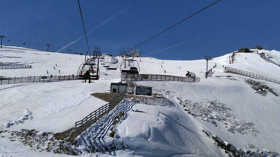 Remonte en la estación de esquí de Valgrande-Pajares.Remonte en la estación de esquí de Valgrande-Pajares