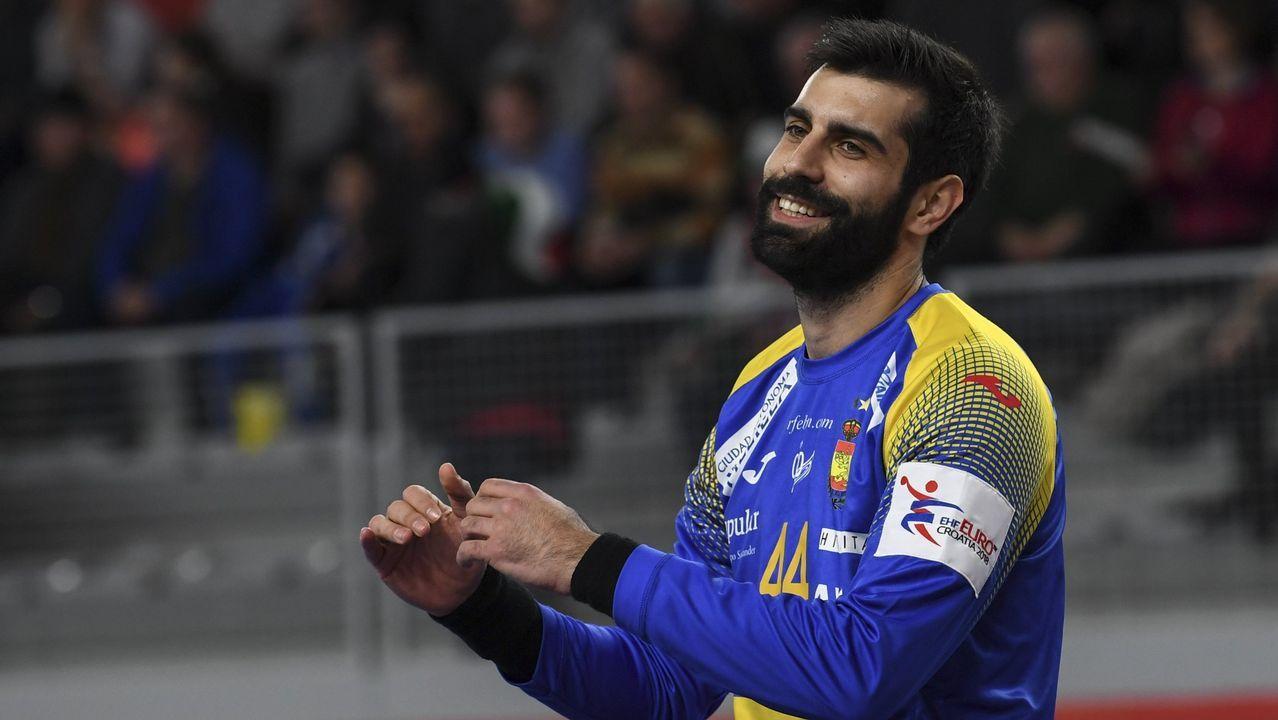 Rodrigo Corrales. Portero de la selección española de balonmano, se proclamó campeón de Europa en el año 2018.