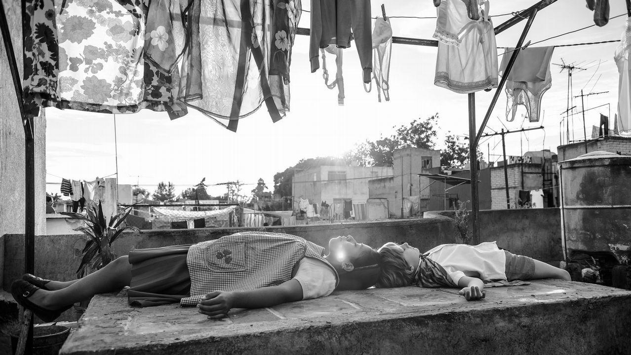 Fotograma de la película del realizador mexicano Alfonso Cuarón «Roma»