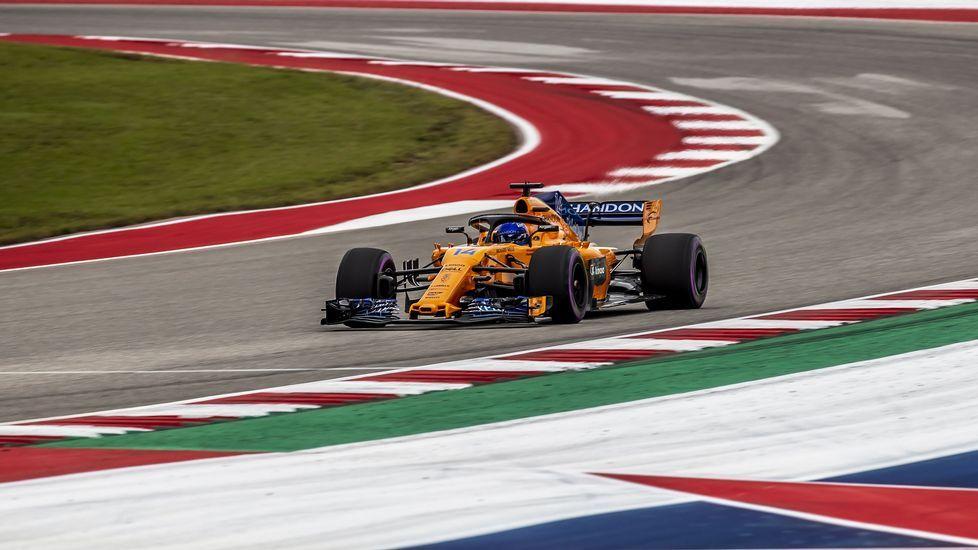 El Gran Premio de Formula uno de México en imágenes.Fernando Alonso en Austin