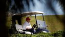 Donald Trump, en una nueva jornada en el campo de golf de su club de Palm Beach