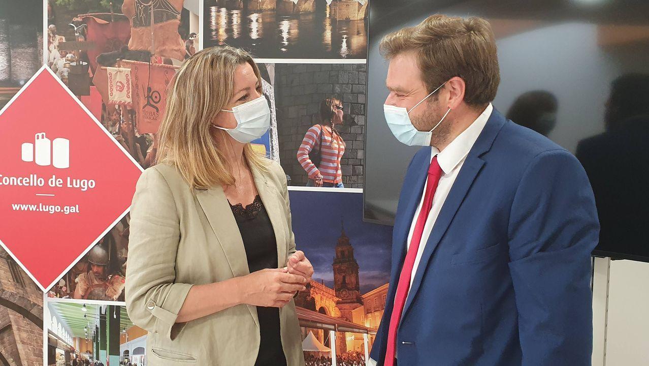 Lara Méndez y el concejal Álvaro Santos, artífice del nuevo pliego de la basura