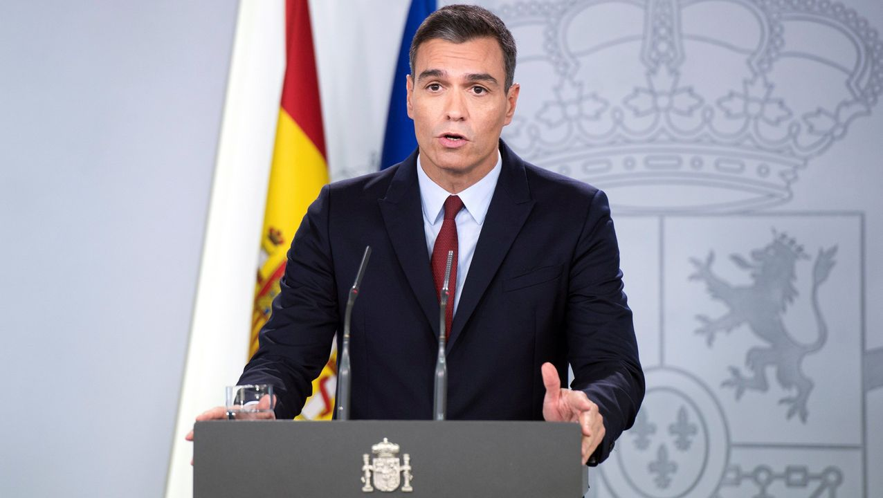 Comparece Pedro Sánchez tras la exhumación de Franco.Pedro Sánchez, en el debate electoral