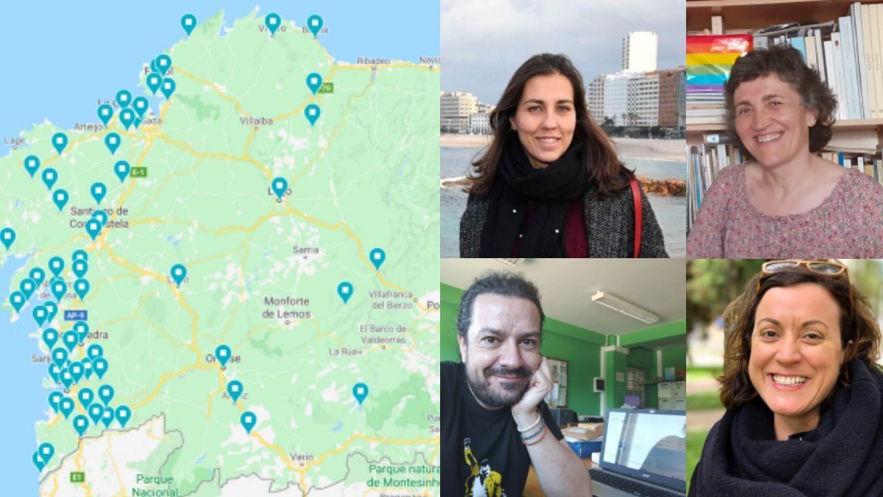 A implantación en Galicia da rede educativa galega LGBTIQ+ e docentes das catro provincias galegas
