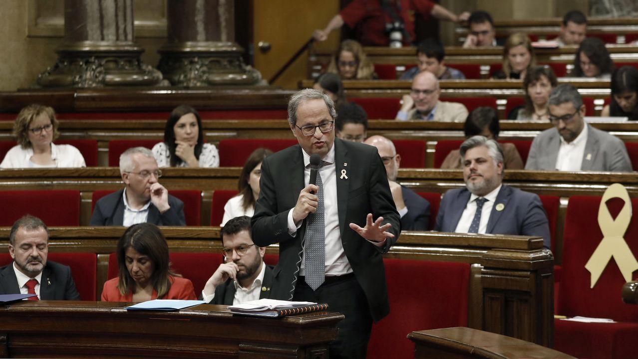 Quim Torra se sometió este miércoles a una sesión de control en el Parlamento de Cataluña