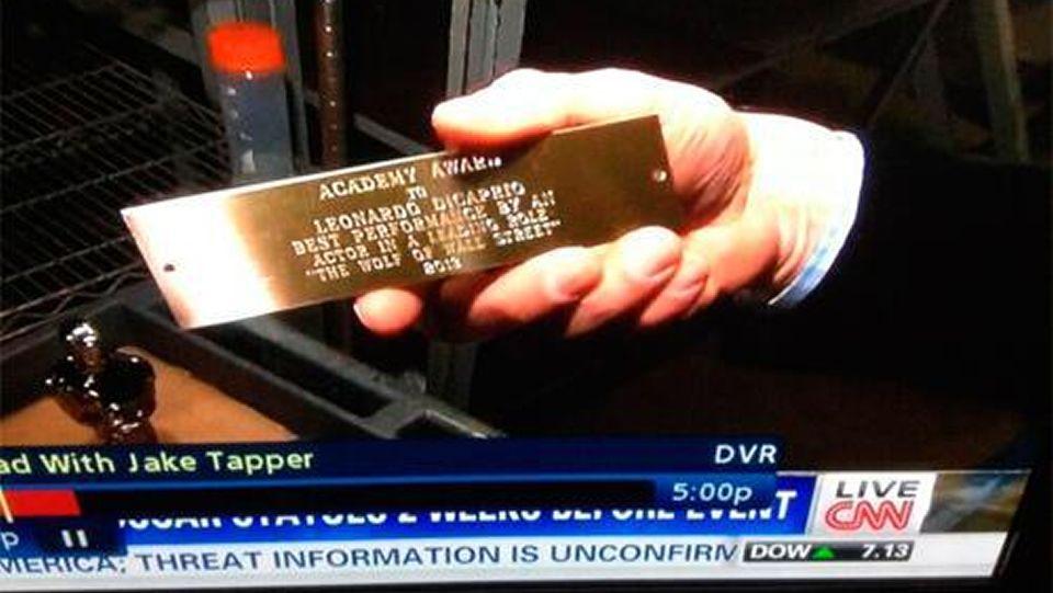CNN mostró durante un reportaje sobre los Oscars una placa con el nombre del actor como ganador al premio a la mejor interpretación