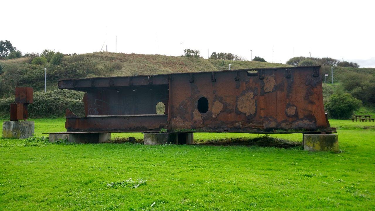 El pecio del «Castillo de Salas», en la senda litoral